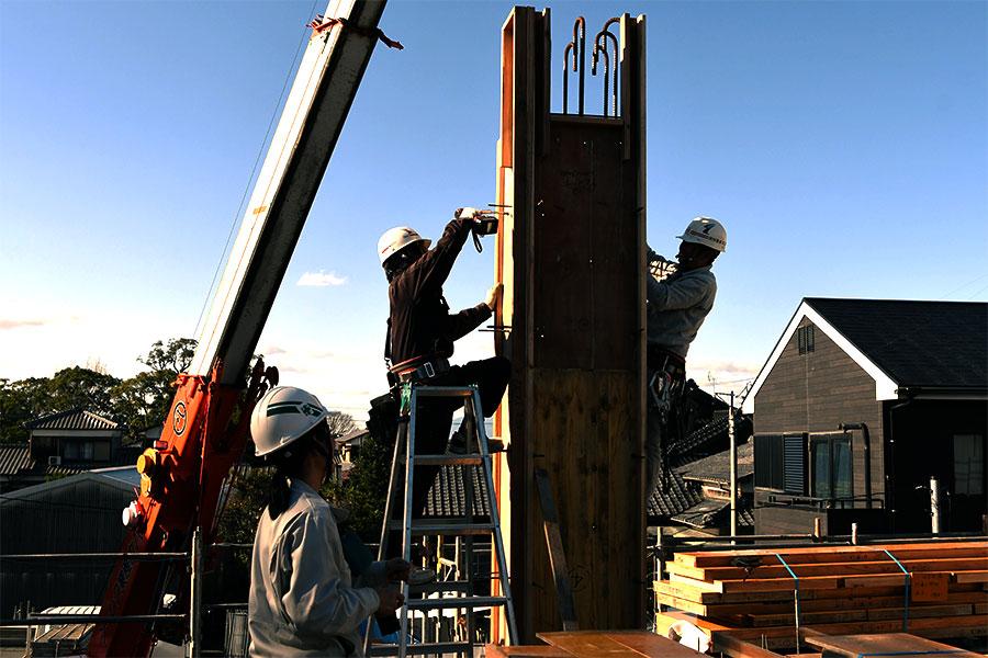 冨士建設工業株式会社の鉄骨工事の画像