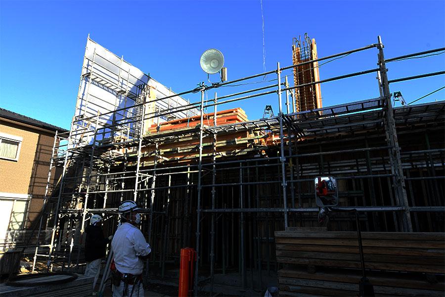冨士建設工業株式会社の足場確認作業の画像